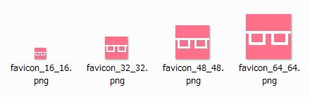 ファビコン4サイズ